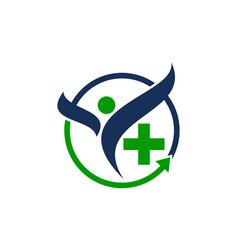 Healthy holistic center vector