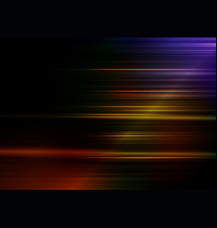 Horizontal speed lines with colorful background vector