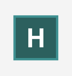 hospital symbol icon vector image