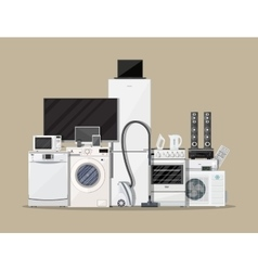 Household Appliances and Electronic Devices vector image