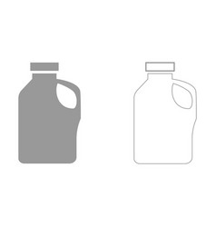 Household chemicals set icon vector