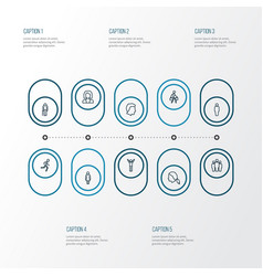 human outline icons set collection of pulling vector image vector image