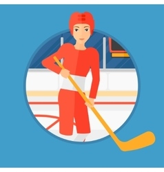 Ice-hockey player with stick vector