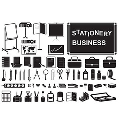 icons business stationery vector image