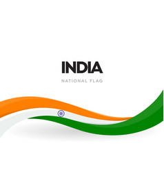 indian waving flag banner india independence day vector image