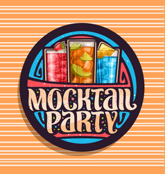 Logo for mocktail party vector
