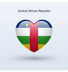 Love Central African Republic symbol Heart flag vector image