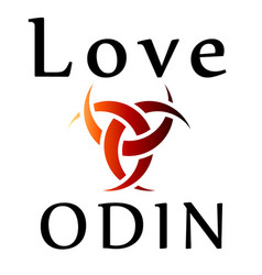 Love odin- symbol of the horns of odin a satanist vector
