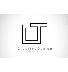 Lt l t letter logo design in black colors vector