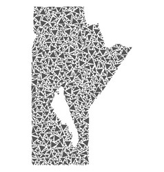 Manitoba province map of triangles vector