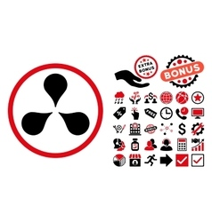 Map Markers Flat Icon with Bonus vector image