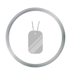 Metal tags hanging on a chain icon cartoon Single vector