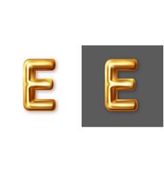 Metallic gold alphabet letter symbol - e vector