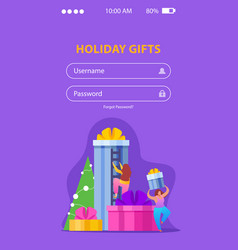 mobile holiday gifts background vector image
