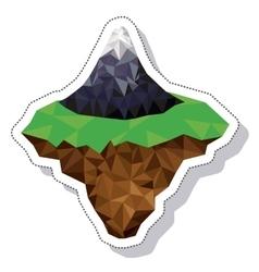Mountain landscape isometric icon vector