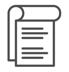 Notepad line icon sheet of paper vector