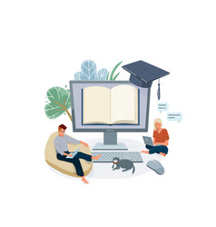 online home school education vector image