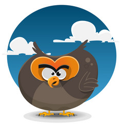 Owl cartoon character vector