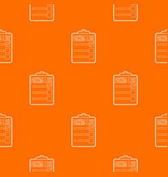 Packing list pattern orange vector
