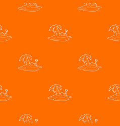 pirate island pattern orange vector image