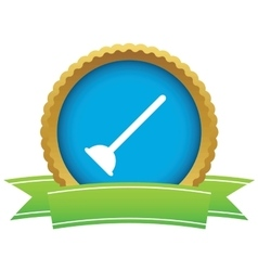 Plunger certificate icon vector