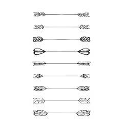Retro scribble hand-drawn dividers set vector image