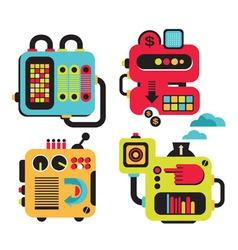Robots Background vector