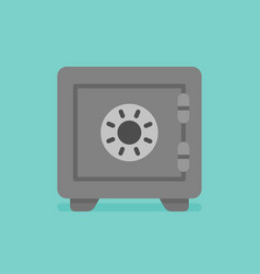 safe icon strongbox flat style vector image