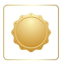 Seal award gold icon vector