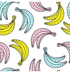 Seamless pattern of bananas summer mood vector