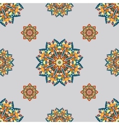seamless pattern with elements of Mandala style vector image
