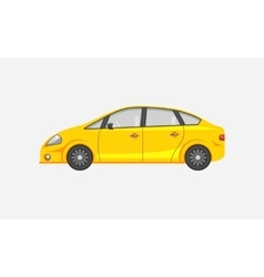 Sedan car side view vector