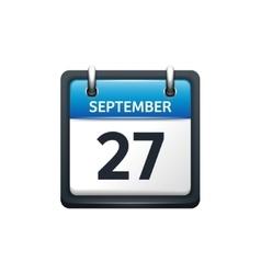 September 27 Calendar icon vector