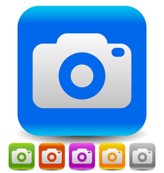 simple photography icons with camera symbol vector image