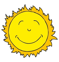Smiling Sun Isolated on white background vector image