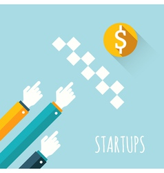 Startups vector image