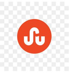 stumbleupon social media icon design template vector image