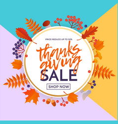 thanksgiving autumn fall sale banner shopping vector image