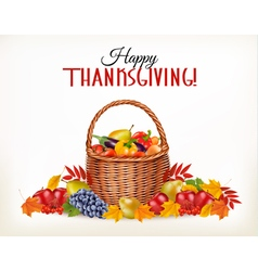 Thanksgiving background with fresh vegetables and vector