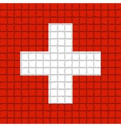 The mosaic flag of Switzerland vector