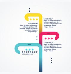 Trendy minimalistic flat infographics composition vector