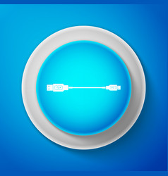 usb micro cables icon isolated on blue background vector image