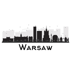 Warsaw silhouette vector image