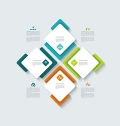 Web banners design can be used for workflow vector