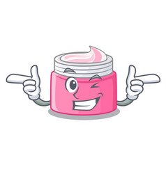Wink face cream in the cartoon form vector