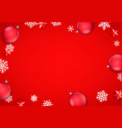 winter holidays red background vector image