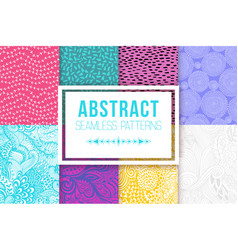 abstract seamless patterns se textures vector image vector image