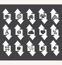 Arrow concept icons vector image vector image