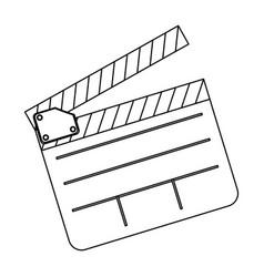 clapper board film icon vector image