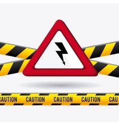 Danger advertising design vector image